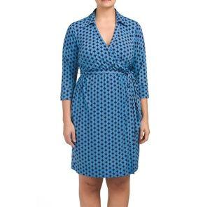 Julie Dillon New York plus printed wrap dress